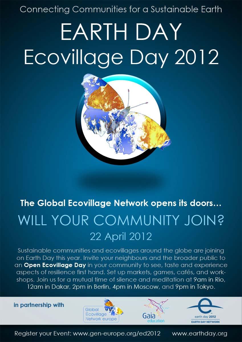 День Земли  Ecovillage_day-poster_english